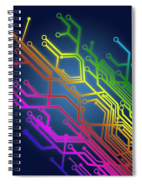 Circuit Board Spiral Notebook by Setsiri Silapasuwanchai