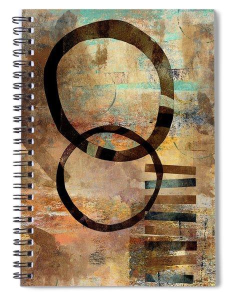 Circular Lines Spiral Notebook