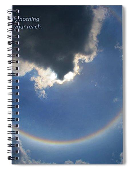 Circular Rainbow Inspiration Spiral Notebook