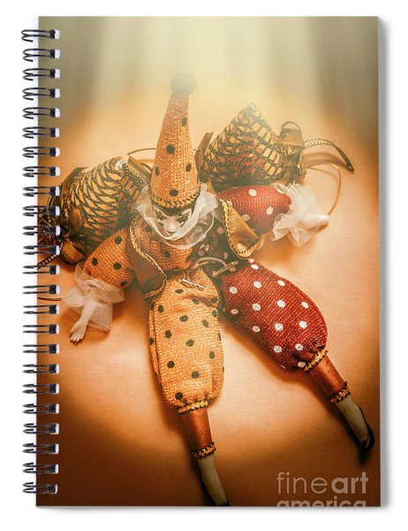 Circus Stage Spotlight Spiral Notebook