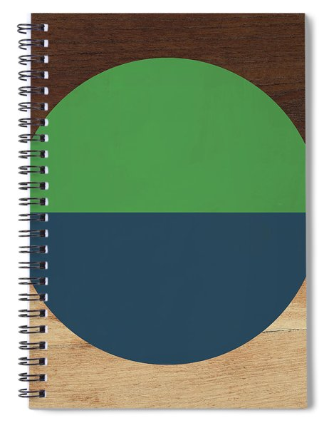 Cirkel Blue And Green- Art By Linda Woods Spiral Notebook