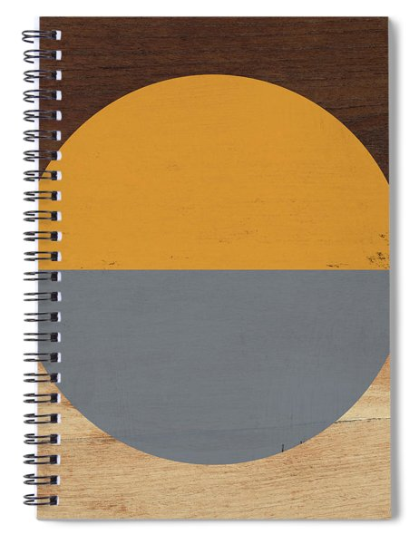 Cirkel Yellow And Grey- Art By Linda Woods Spiral Notebook