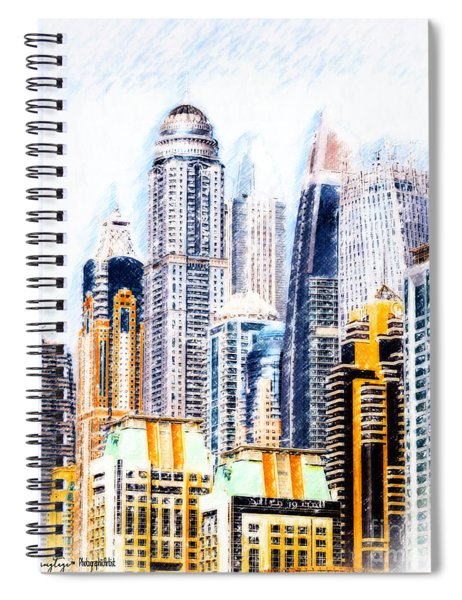 City Abstract Spiral Notebook