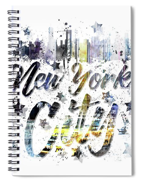 City Art Nyc Collage - Typography Spiral Notebook