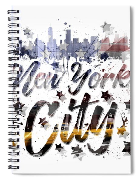 City-art Nyc Composing - Typography Spiral Notebook