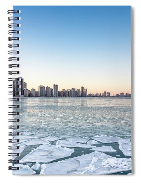 City By The Frozen Lake Spiral Notebook