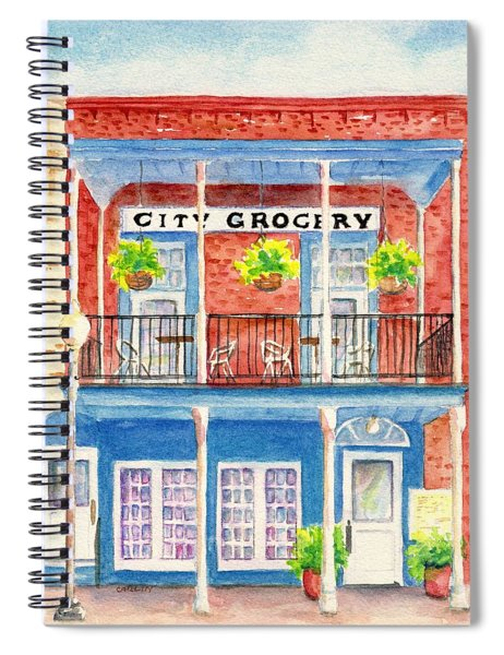City Grocery Oxford Mississippi  Spiral Notebook