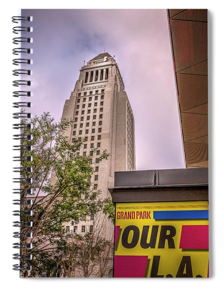 City Hall Seen From Grand Park Spiral Notebook