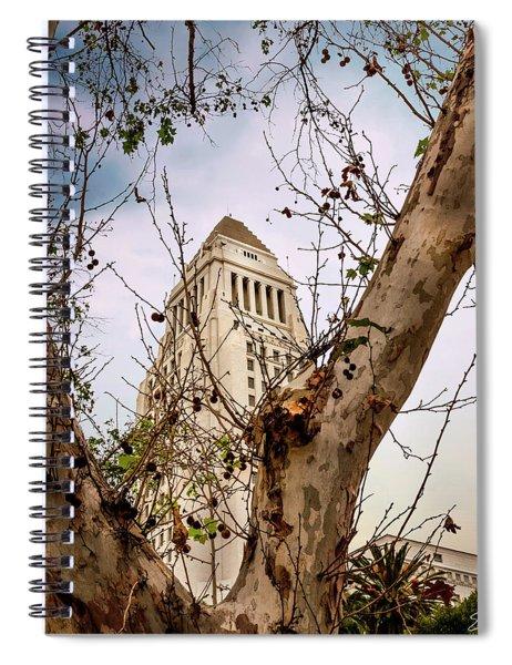 City Hall Seen Through A Tree Spiral Notebook