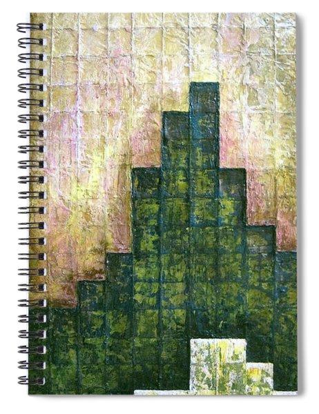 City In Green Spiral Notebook