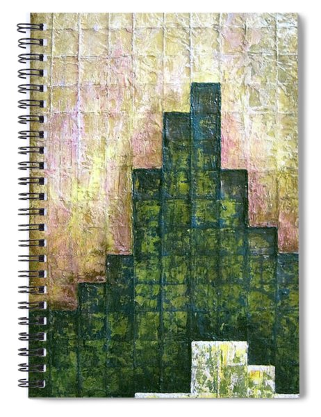 City In Green Spiral Notebook