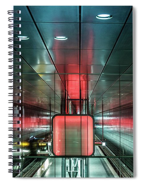 City Metro Station Hamburg Spiral Notebook