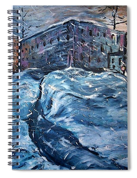 City Snow Storm Spiral Notebook