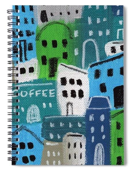 City Stories- Coffee Shop Spiral Notebook
