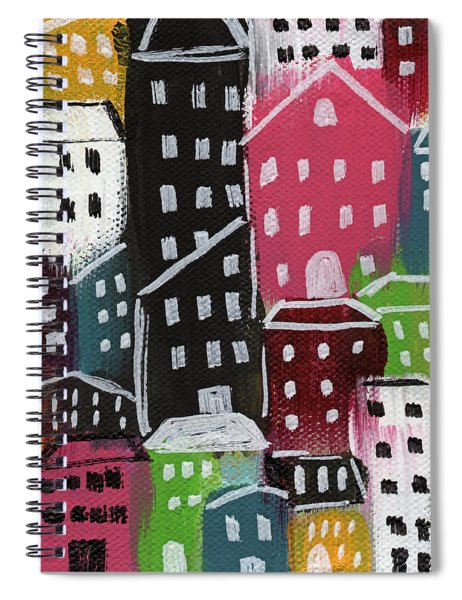 City Stories- Colorful Spiral Notebook