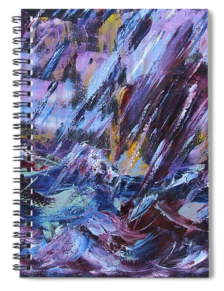 City Storm Abstract Spiral Notebook