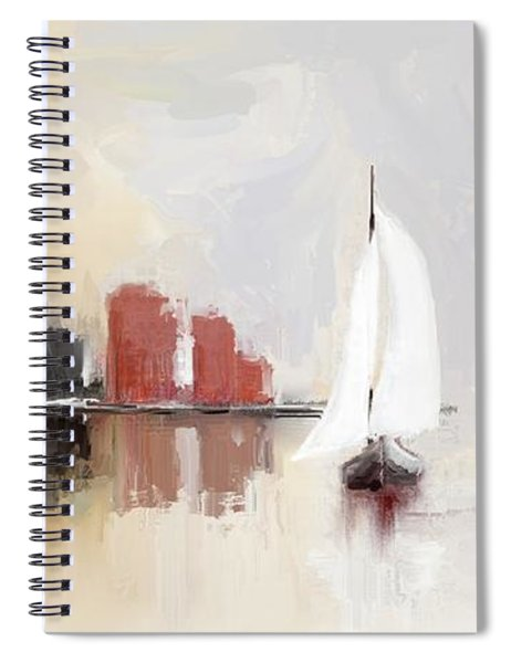 Cityscape At Sunrise Spiral Notebook