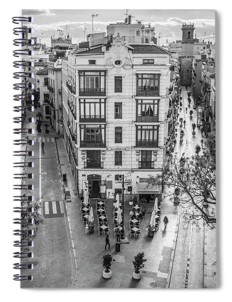 Cityscape Valencia Spain Spiral Notebook