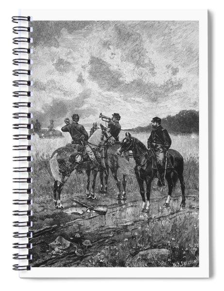 Civil War Soldiers On Horseback Spiral Notebook