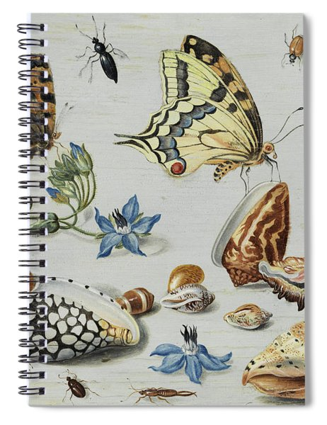 Clams, Butterflies, Flowers And Insects Spiral Notebook