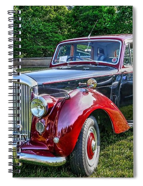 Classic Bentley In Red Spiral Notebook