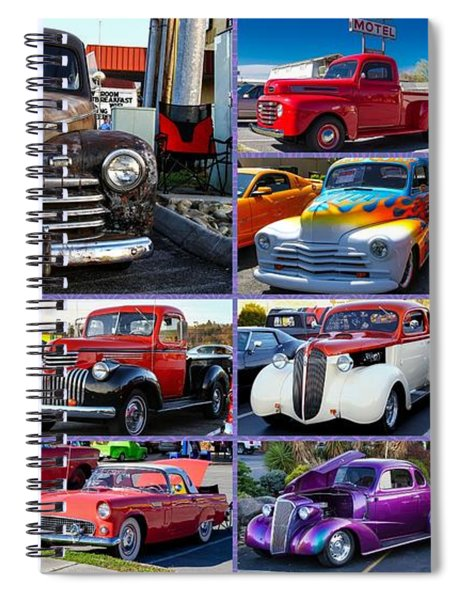 Spiral Notebook featuring the photograph Classic Cars by Robert L Jackson