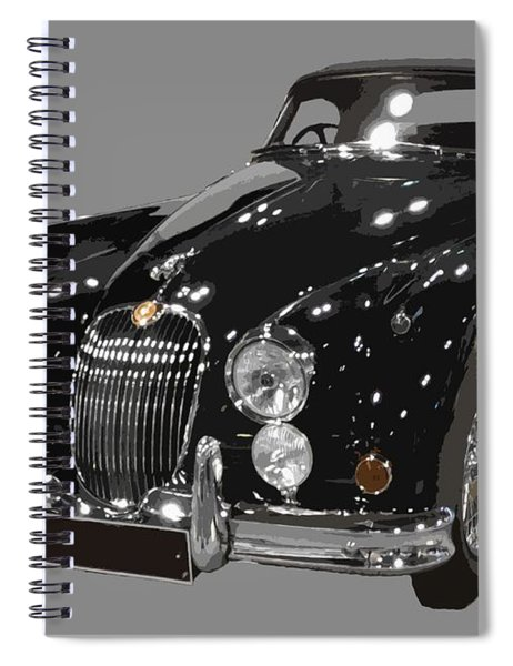 Classic Jaguar In Black Art Spiral Notebook