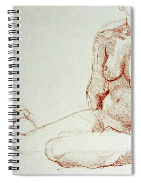 Classic Life Figure Drawing Of A Young Nude Woman  Spiral Notebook