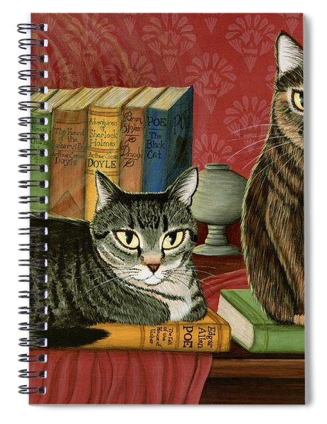 Classic Literary Cats Spiral Notebook