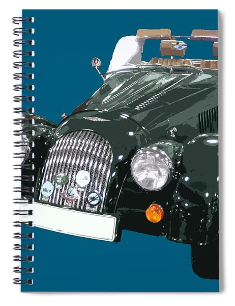 Classic Motor Art In Green Spiral Notebook