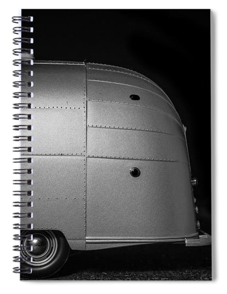 Classic Old Airstream Vintage Travel Camping Trailer Spiral Notebook