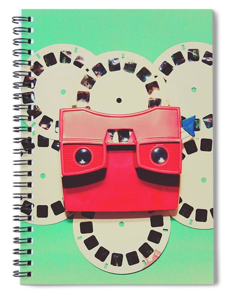 Classic Old Media Slide Show Viewer Spiral Notebook