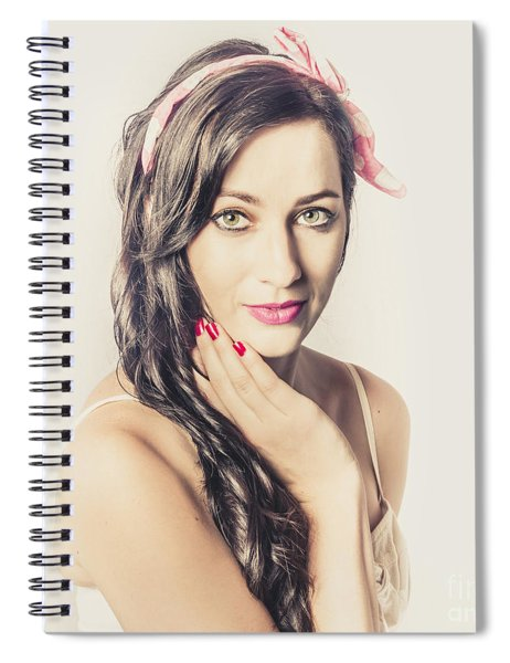 Classic Old Style Pin-up Girl Spiral Notebook