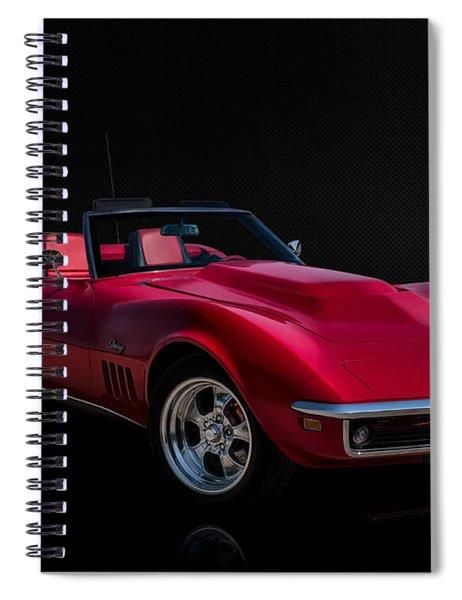 Classic Red Corvette Spiral Notebook