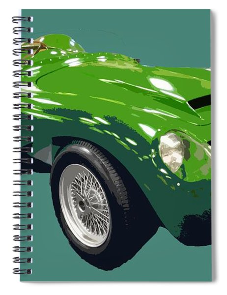 Classic Sports Green Art Spiral Notebook