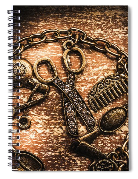 Classy Haircut Icons Spiral Notebook