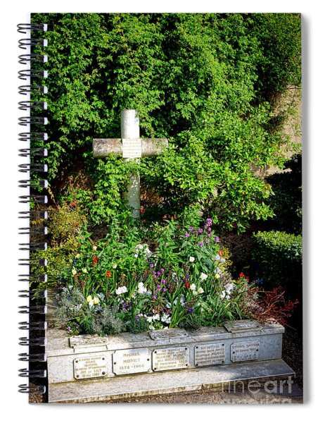 Claude Monet Grave In Giverny Spiral Notebook