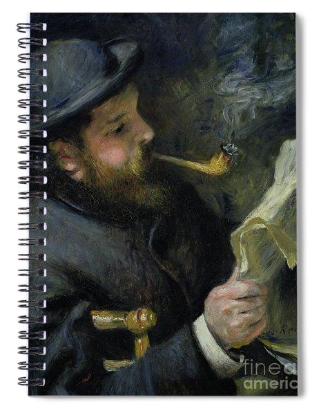 Claude Monet Reading A Newspaper Spiral Notebook