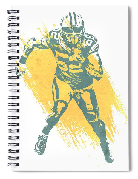 Clay Matthews Green Bay Packers Water Color Art 1 Spiral Notebook