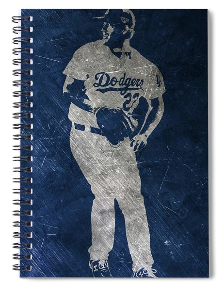 Clayton Kershaw Los Angeles Dodgers Art Spiral Notebook