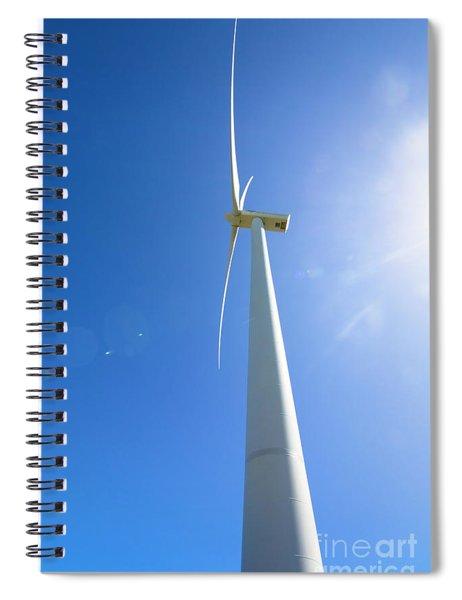 Clean Blue Energy Spiral Notebook