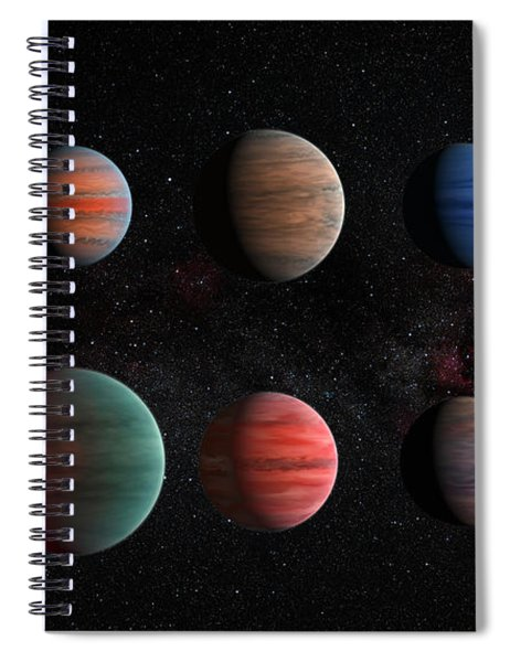 Clear To Cloudy Hot Jupiters Spiral Notebook
