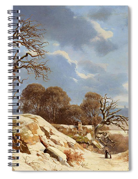 Clear Winter's Day By The Baltic Sea Spiral Notebook