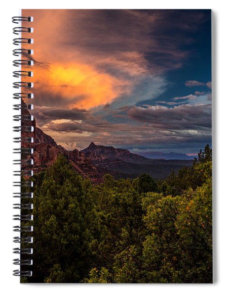Clearing Storm Over Zion National Park Spiral Notebook