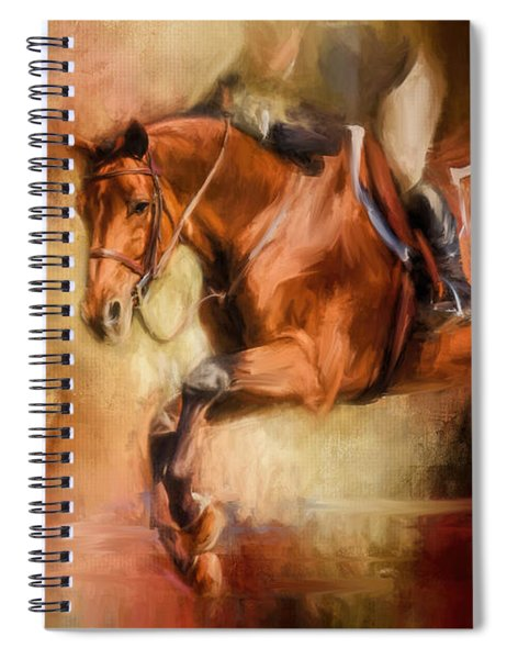 Clearing The Jump Equestrian Art Spiral Notebook