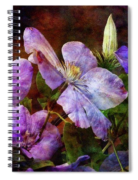 Clematis 1330 Idp_2 Spiral Notebook