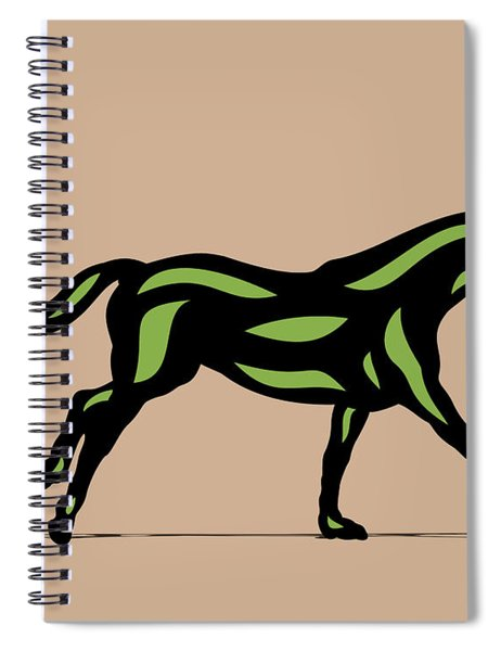 Clementine - Pop Art Horse - Black, Geenery, Hazelnut Spiral Notebook