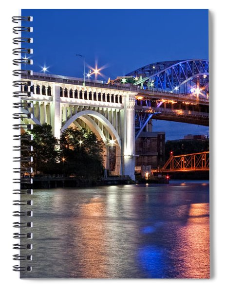 Cleveland Colored Bridges Spiral Notebook