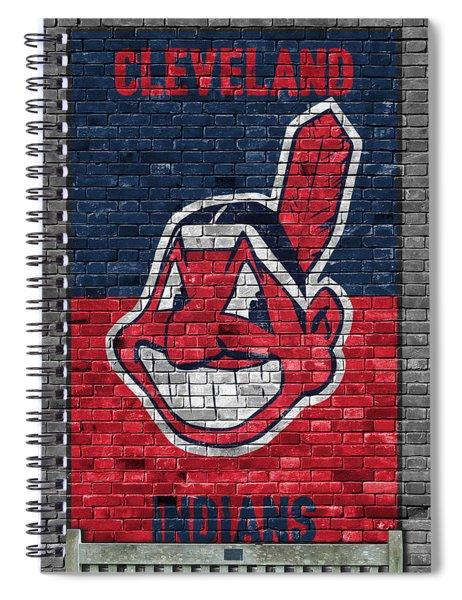 Cleveland Indians Brick Wall Spiral Notebook
