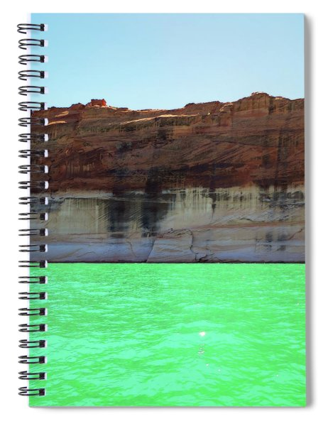 Cliff At Lake Powell Spiral Notebook